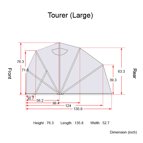motorcycle cover tourer large the bike shield