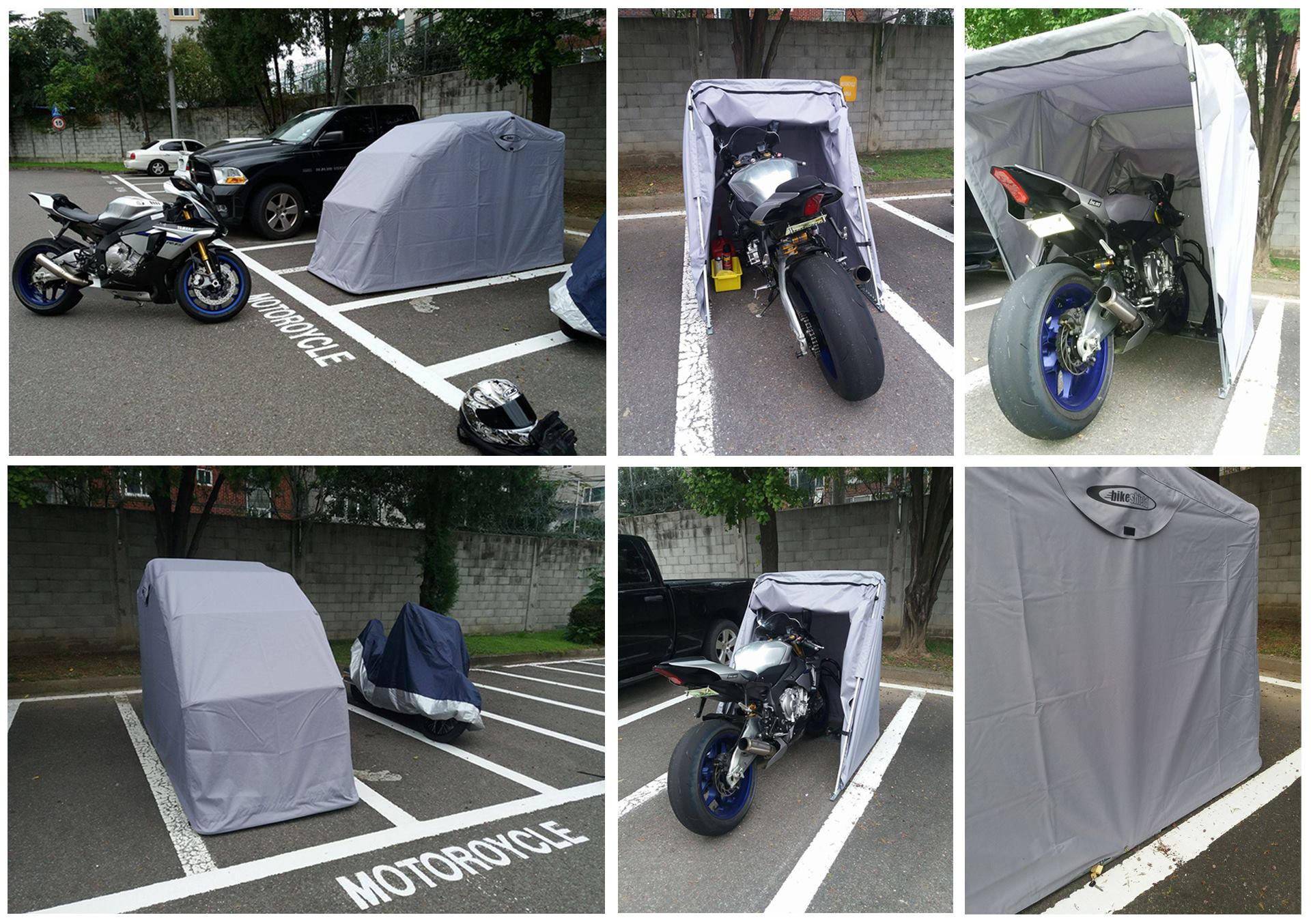 The Bike Shield - Motorcycle Shelter / Garage / Shed ...